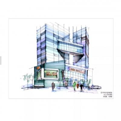 手绘篇|建筑手绘效果图